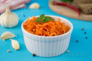 Готовая домашняя морковь по корейски