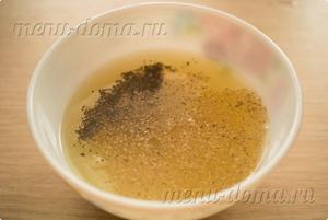 Лимонный сок с горчицей и специями