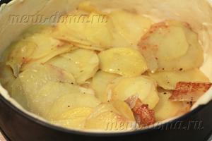 Тесто в форме с половиной картофеля