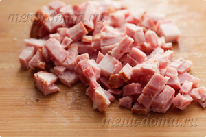 Измельченное копченое мясо