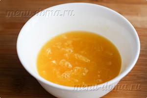 Мякоть и сок апельсина