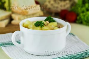 Фото горохового супа с копченым мясом