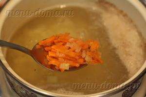 Добавление обжаренных овощей