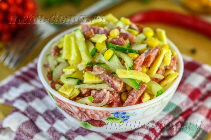 Картофельные блинчики с колбасой – кулинарный рецепт