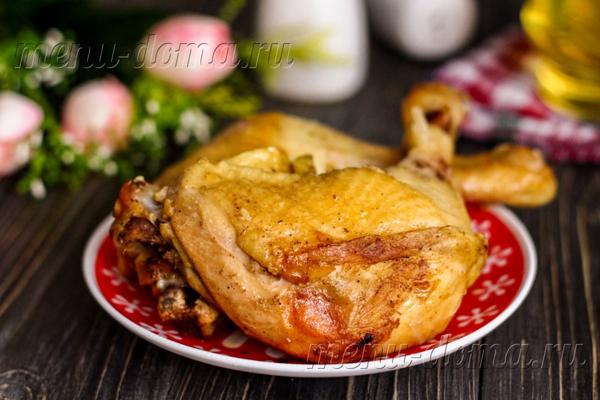 Куриные окорочка в пакете с хрустящей корочкой
