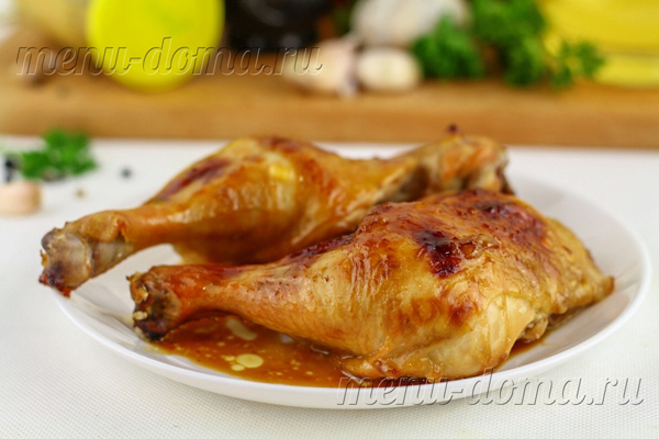 Хрустящие куриные ножки в восточном стиле с соевым соусом и медом