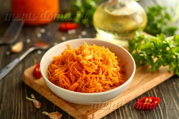 Консервация с готовой приправой для моркови по-корейски